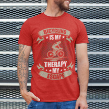 """T-särk """"Bicycling is my therapy"""""""