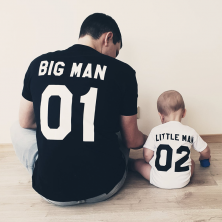 "T-särkide komplekt ""Big man and Little man"""