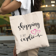 "Riidest kott ""Shopping is my cardio"""