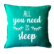 "Dekoratiivne padi ""All you need is sleep"""